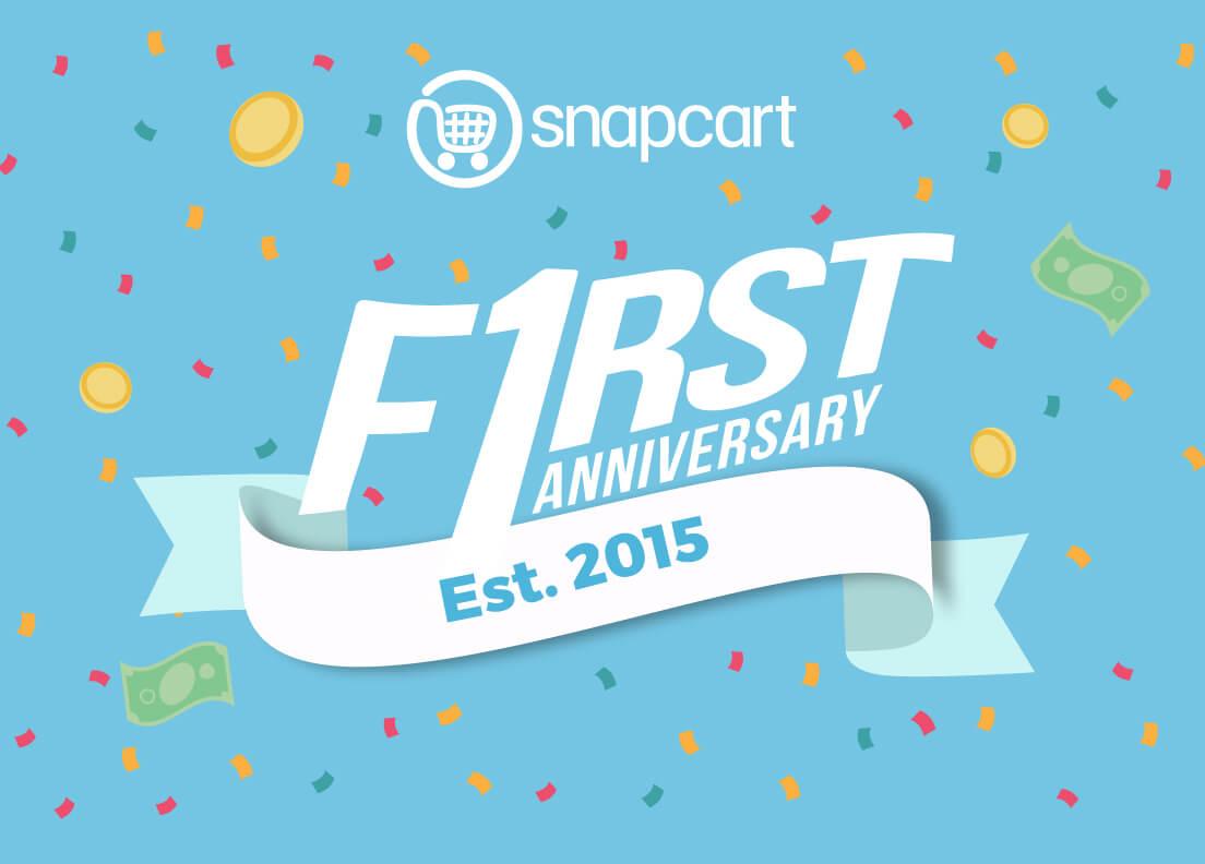 Snapcart is One! – Snapcart : Snapcart